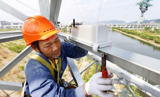 全国首套集成式输电杆塔倾斜监测系统启用