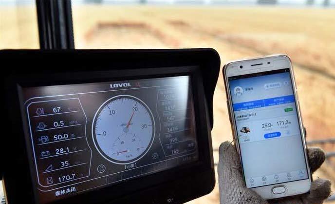 大量应用于全国小麦收割机上远程农机监控传输系统