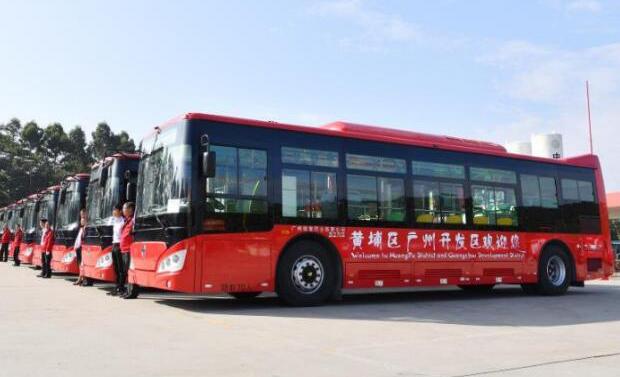 带气体传感器监测功能的新型电动公交在广州上路