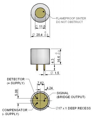 <font color=red>可燃气体传感器</font>4P-90C