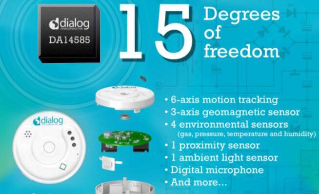 Dialog公司推出最新蓝牙低功耗多传感器开发套件