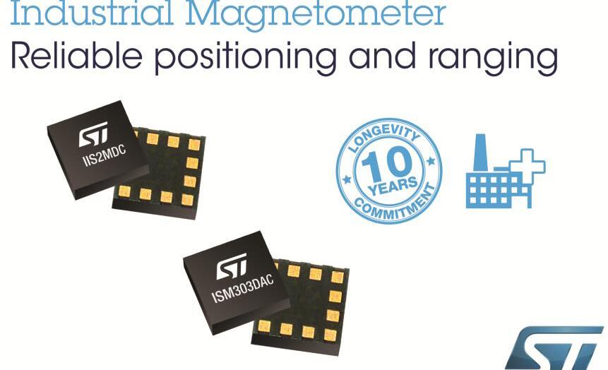 意法半导体推出可用于智能电表的磁强计和电子罗盘新品