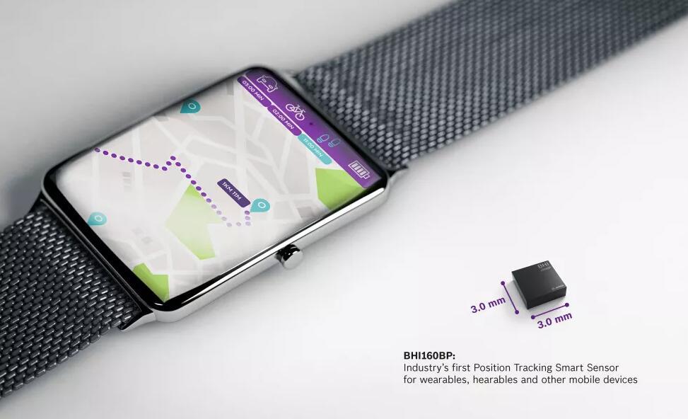 博世推出首款用于可穿戴设备的位置追踪智能传感器